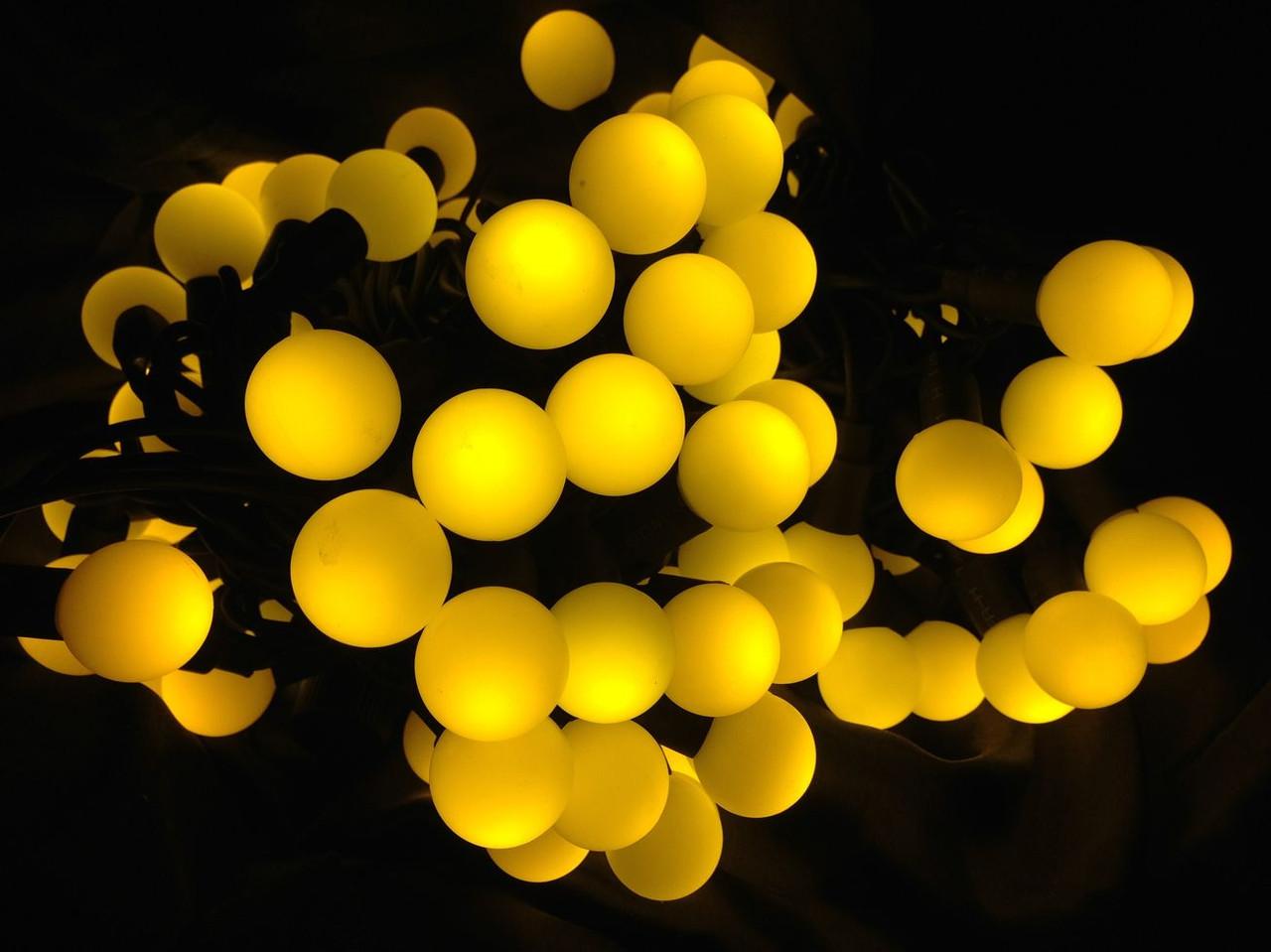 """Гирлянда """"Светодиодные шарики"""" 25мм желтый 100LED"""