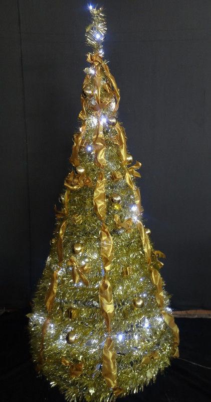 Елка новогодняя золотая высота 1,8м