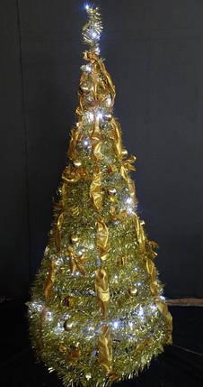 Елка новогодняя золотая высота 1,8м, фото 2