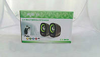 Акустическая система  2.0 для компьютера multimedia speaker     . f