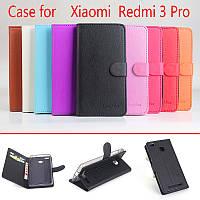 Чехол книжка для Xiaomi Redmi 3 Pro / Redmi 3S / Redmi 3X (9 цветов)