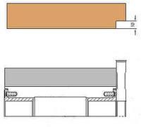 Фреза подрезная для обработки базовой четверти на четырехсторонних станках 145 х 40/50 х 14 х 4