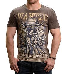 Футболка коричневая с принтом Peresvit Gunfighter T-Shirt