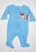 Человечек мальчику новорождённому младенцу размер 0-3мес, фото 1