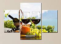 Модульная картина Вино и горы