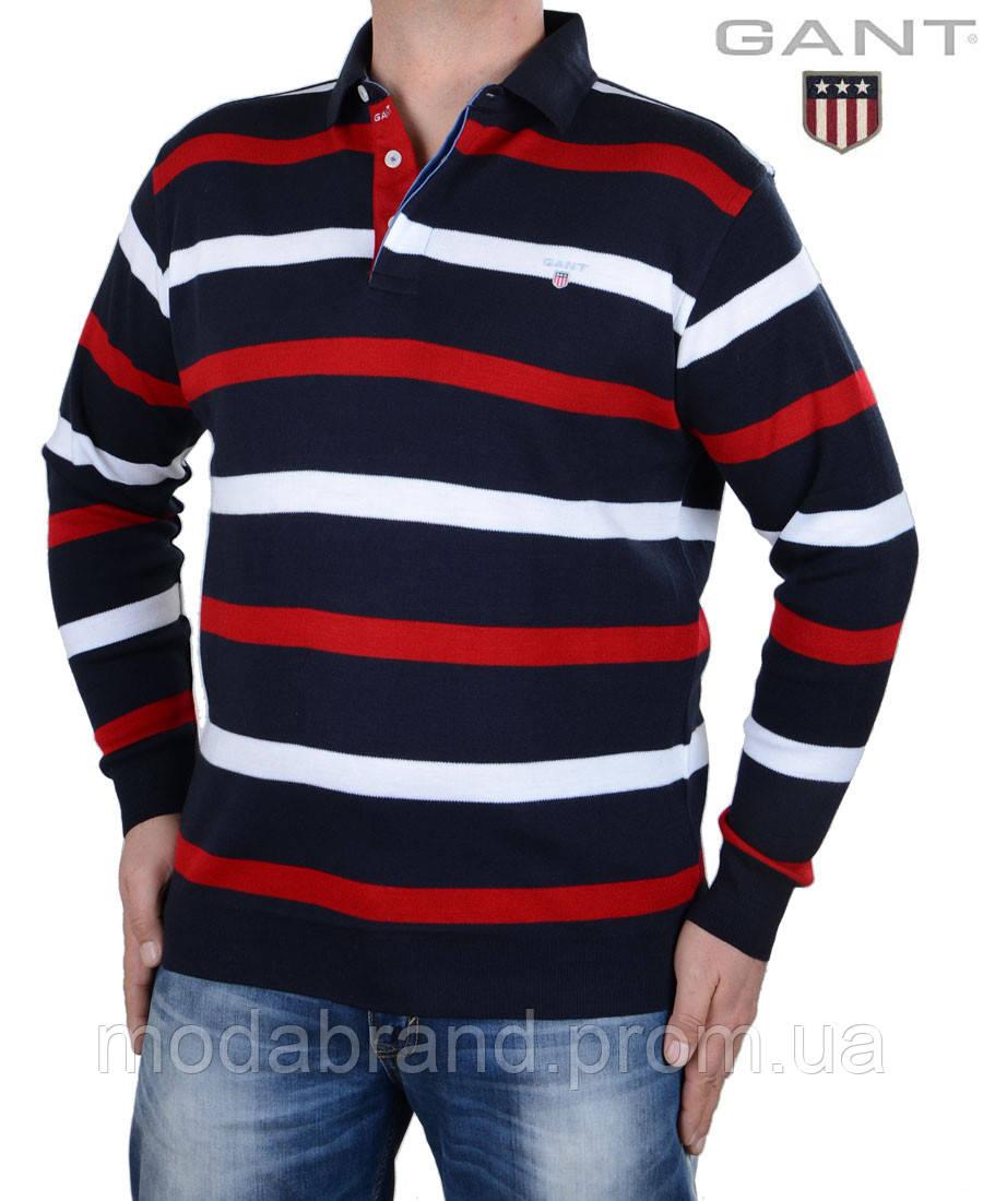 9ec3ab2e333 Яркий мужской свитер поло в полоску  продажа