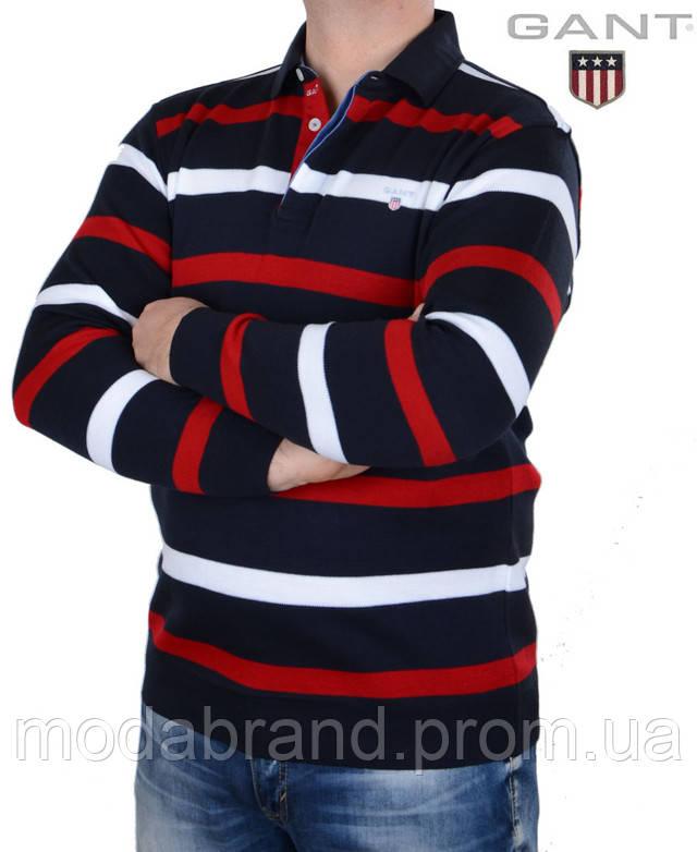 dd6d824f998 Джемпер мужской Gant. Модель-Regular. Горловина-ворот. Состав -82% шерсти и  18% хлопка. Размеры M-L(полномерные). На моделе размер-XXL.