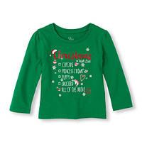 Реглан девочке хлопок новогодний размер 4 года Childrens Place