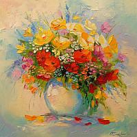 «Букет нежных цветов» картина маслом