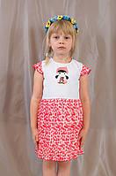 Нарядное летнее детское платье, хлопок, шифон, р. 92,98,104.
