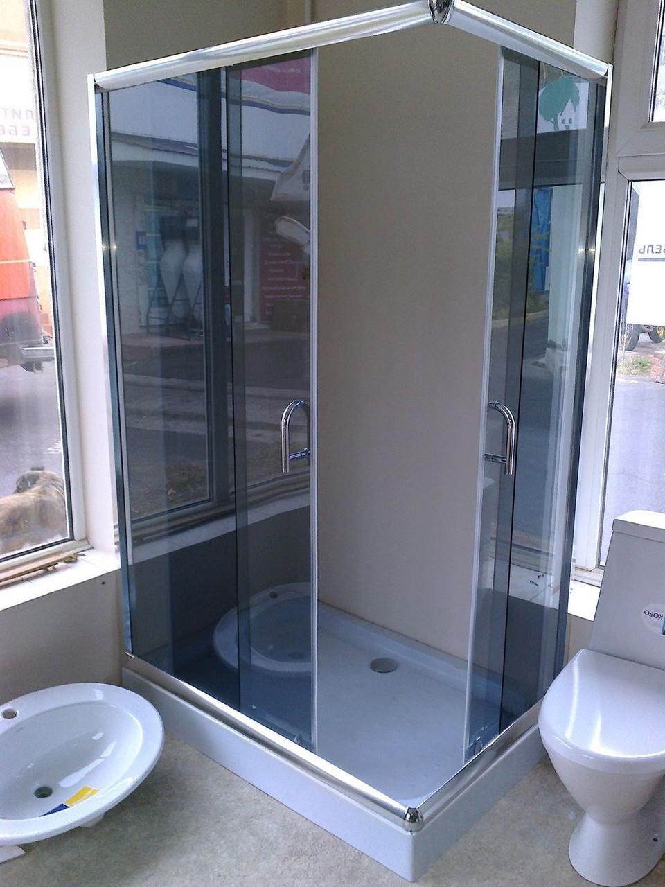 Душевая кабина AQUASTREAM Simple 128 SLB-L (с поддоном 15 см) стекло графит