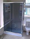 Душевая кабина AQUASTREAM Simple 128 SLB-L (с поддоном 15 см) стекло графит, фото 2