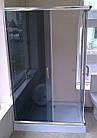 Душевая кабина AQUASTREAM Simple 128 SLB-L (с поддоном 15 см) стекло графит, фото 3