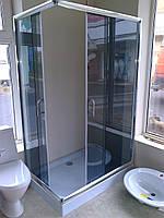 Душевая кабина AQUASTREAM Simple 128 SLB-R (с поддоном 15 см) стекло графит