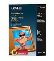 Фотобумага Epson глянцевая 200г/м кв, A4, 20л (C13S042538)