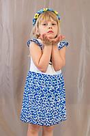 Красивое праздничное детское платье на девочку, хлопок, шифон, р. 92,98,104.