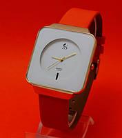 """Женские наручные часы с красным кожаным ремешком """"Камилла"""""""