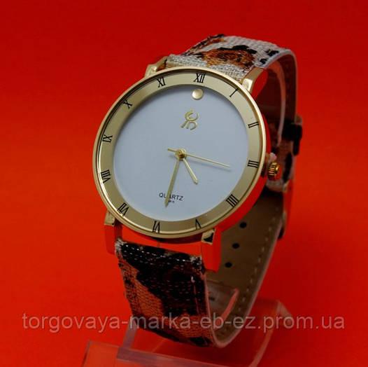 5273c9f2554c Бонус 15%! Женские наручные часы с золотым корпусом и текстильным ремешком