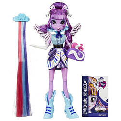 "My Little Pony Equestria Girls Rainbow Rocks Twilight Sparkle Лялька-поні рок-зірка Іскорка ""Стильні зачіски"""
