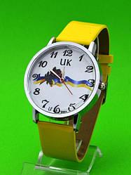 """Женские наручные часы с серебряным корпусом и кожаным ремешком """"Канев"""""""