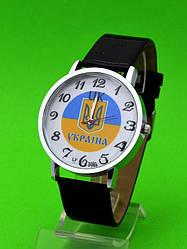 """Женские наручные часы с серебряным корпусом и кожаным ремешком """"Львов"""""""