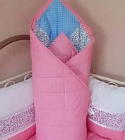 Детское лоскутное одеялко демисезонное