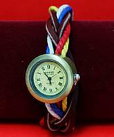 """Женские наручные часы-браслет на плетеном кожаном шнуре-""""косичке"""" """"Стоэлл"""", разноцветный"""