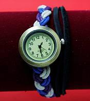 """Женские наручные часы-браслет на плетеном кожаном шнуре-""""косичке"""" """"Ичука"""", разноцветный"""