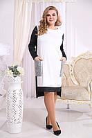 Женское Платье Надежда серый (48-72)