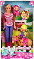 Кукольный набор Штеффи и Эви Уроки верховой езды Simba 5738051