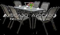 Набор   BOLONIA  металлический стол 150X90X72  см + 6 кресел