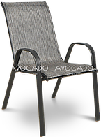 Кресло   BOLONIA  металлическое  55х75х91 см , серо-черное