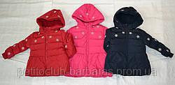 Пальто зимнее для девочки Снежинки (от 12 мес до 36 мес) (NATURE, Венгрия)