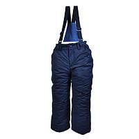 Штаны для мальчика на подтяжках термо (полукомбинезон)
