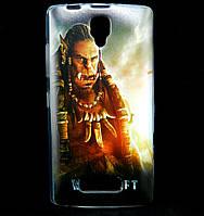Чехол накладка для Lenovo A2010 силиконовый с рисунком, Warcraft Durotan