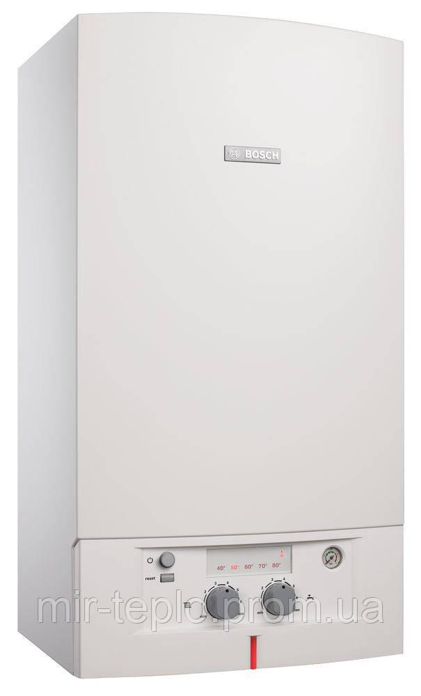 Газовый котел для дома  BOSCH Gaz 4000W  ZWA 24-2K (Германия) двухконт.дымоходный 24 кВт .  .