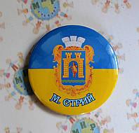 Значок сувенірний герб м. Стрий