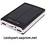 Сонячна батарея з ліхтариком Power Bank Solar 15000 ma, фото 2