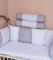 Бортики-подушки в детскую кроватку в серых тонах купить в херсоне