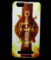 Чехол накладка для Lenovo A2020 Vibe C силиконовый с рисунком, Game of Thrones