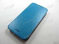 Кожаный чехол MOFI Samsung E500H Galaxy E5 (голубой), фото 1