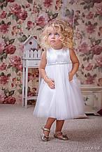 Нарядное детское платье Классический дизайн, снежно белое