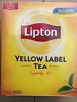 Чай Липтон Черный 100 шт. Чай черный в пакетиках Lipton Yellow Label 100 пакетиков. Можем продать в розницу.