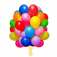 Гелиевый шарик 21см. цвет ленточки на выбор.