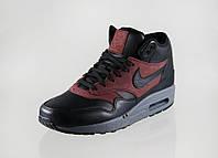 Кроссовки мужские Nike Air Max Sneakerboot Black/Brown (в стиле найк аир макс) синие