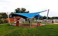 Мембранная конструкция для накрытия летней террасы
