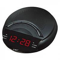 Часы сетевые 903-1 красные, радио FM