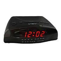 Часы сетевые 905-1 красные, радио FM