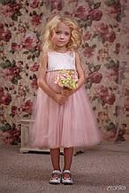 Нарядное детское платье Классический дизайн, розовая пудра