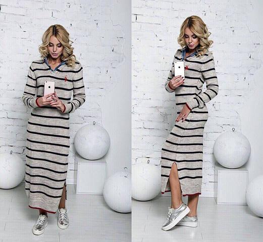 Женское платье, вязка, 50% шерсть;50% коттон, р-р универсальный 42-46